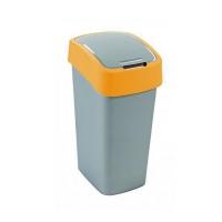 Kosz na śmieci 10L Flip Bin srebrny/pomarańczowy