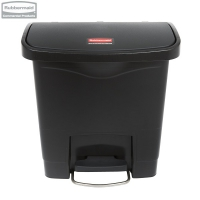 Kosz Slim Jim® Step-On 15L Resin Containers black