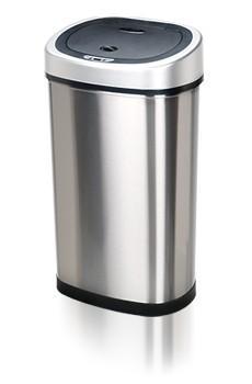 Bezdotykowy kosz na śmieci 50L owalny