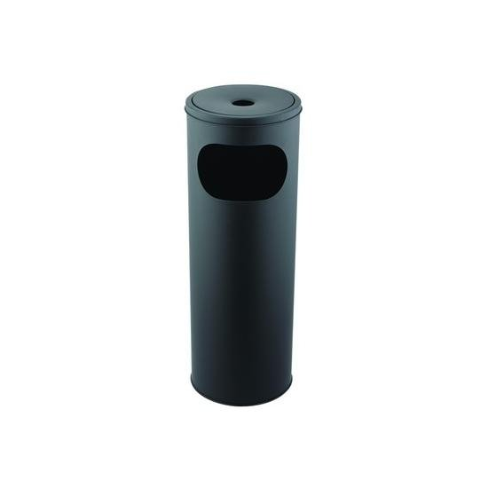 Koszopopielnica okrągła czarna MX-9160