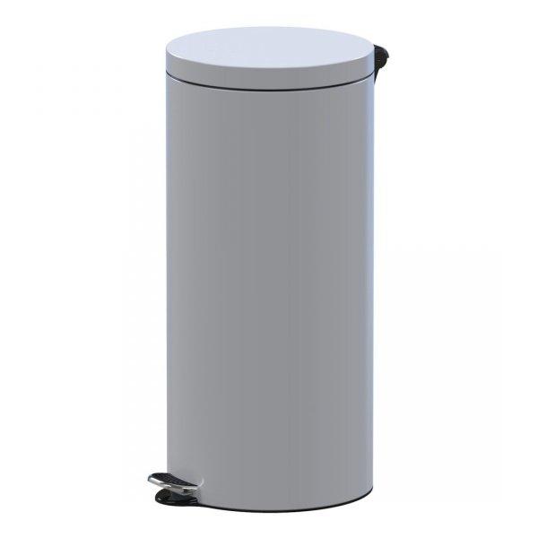 kosz na śmieci metalowy z przyciskiem pedałowym