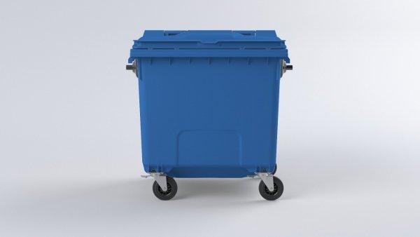 Pojemnik na odpady1100L z pokrywą niebieski