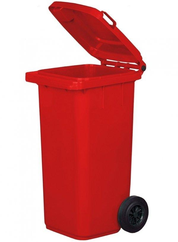 Pojemnik na odpady 120L czerwony
