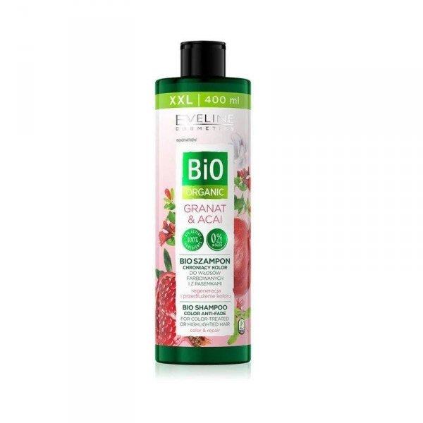 Eveline Bio Organic Granat & Acai Bio Szampon chroniący kolor - włosy farbowane i z pasemkami 400ml