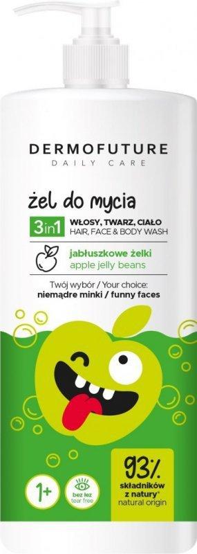 Dermofuture Daily Care Kids Żel do mycia 3w1 Jabłuszkowe Żelki