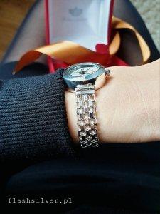 Zegarek ze srebra kod 869 łańcuszek