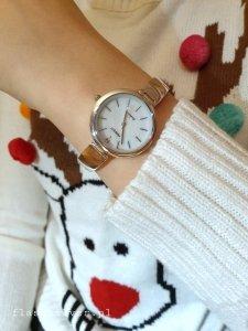 Zegarek ze srebra kod 867  -Perłowa tarcza