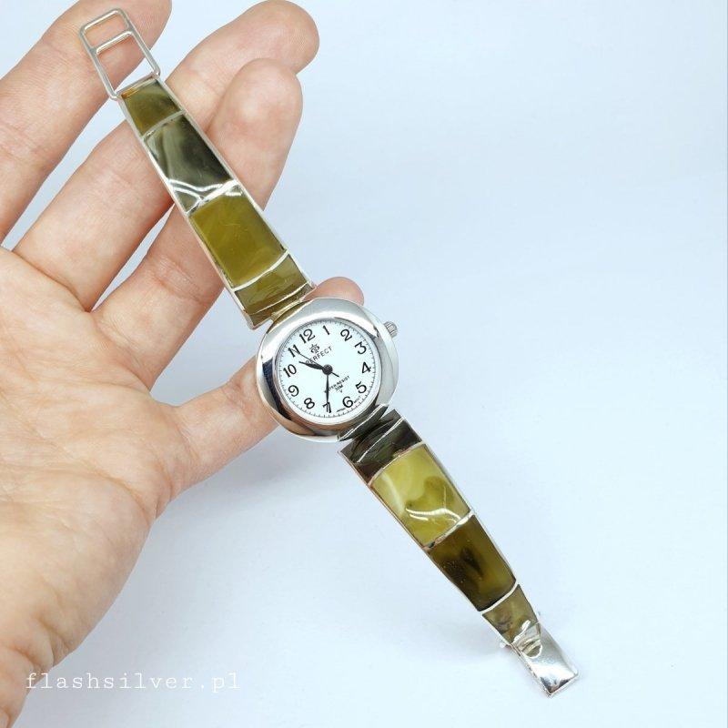 Zegarek z bursztynem