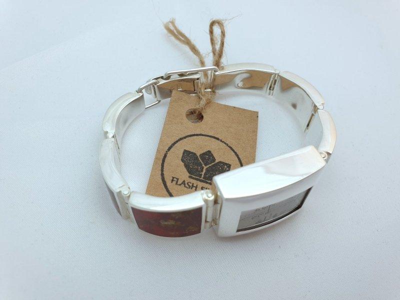 zegarek ze srebra 925 z prawdziwym bursztynem