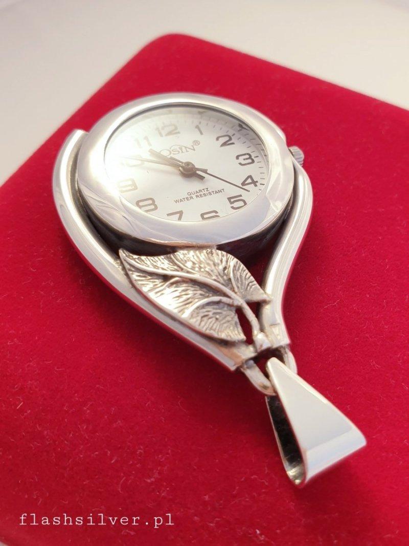 zegarek ze srebra zawieszka