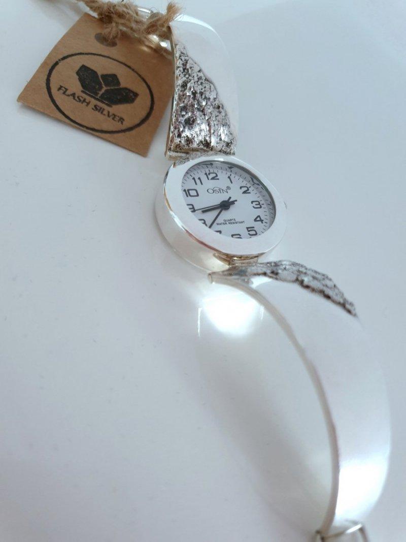 zegarek ze srebra oksydowany