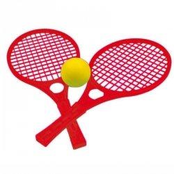 WOOPIE Rakietki Fun Tennis Paletki Dla Dzieci Zestaw Czerwony
