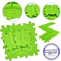 WOOPIE Mata Sensoryczna Ortopedyczna Puzzle Wąż Zielony 6 el.