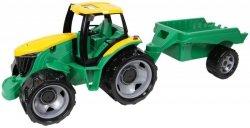 Traktor z przyczepą luzem w szarym kartonie