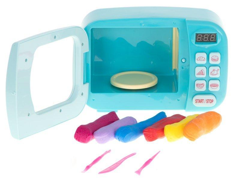 Kuchenka mikrofalowa mikrofalówka niebieska + piankolina + akcesoria