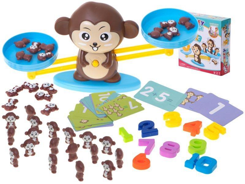 Waga szalkowa edukacyjna nauka liczenia małpka duża