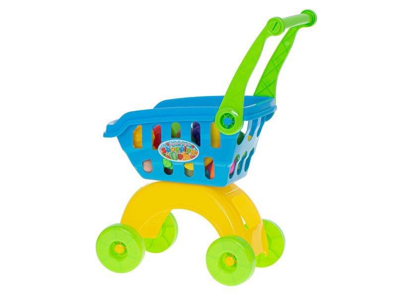 Wózek sklepowy koszyk na zakupy + akcesoria 21el.