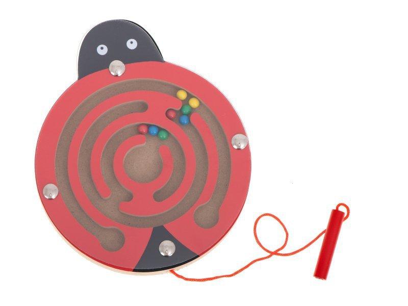 Labirynt magnetyczny kuleczki biedronka