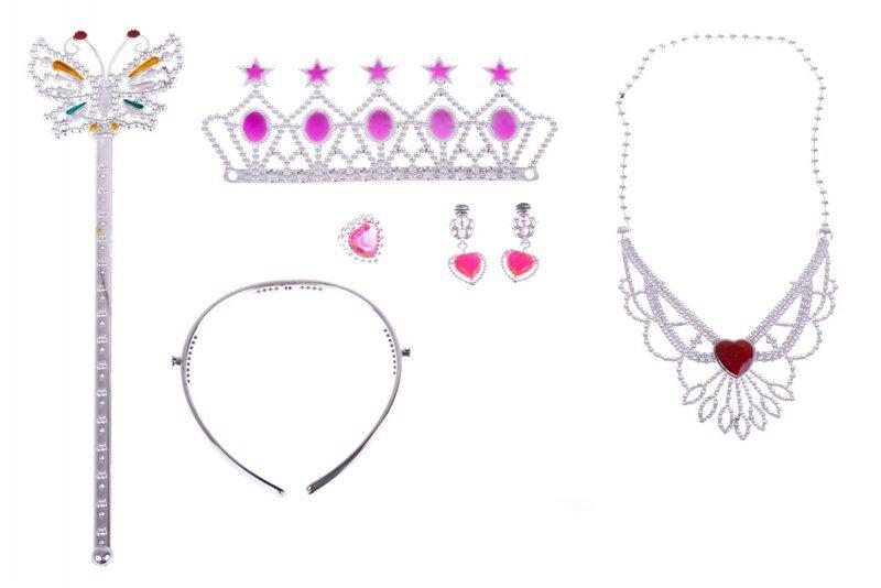 Kostium strój karnawałowy księżniczka + akcesoria