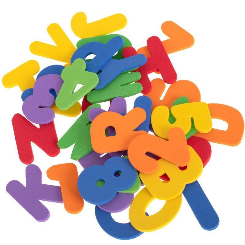 Zabawka do kąpieli puzzle piankowe literki + cyfr