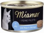 Miamor Feline Filets Heller Tuńczy+Krew 100g