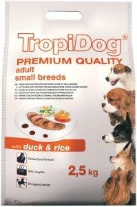 Tropidog Premium Adult Small Breeds- Kaczka z Ryżem 2,5kg