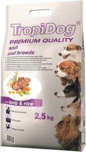Tropidog Premium Adult Small Breeds- Jagnięcina z Ryżęm 2,5kg
