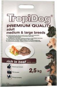 Tropidog Premium Adult Medium & Large Breeds- Wołowina z Ryżem 2,5kg