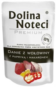 Dolina Noteci Danie z Wołowiną papryką i makaronem  100g
