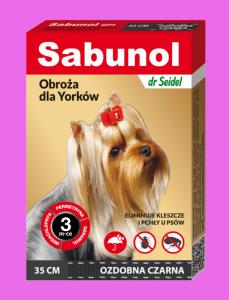 Sabunol  GPI Obroża czarna 35cm