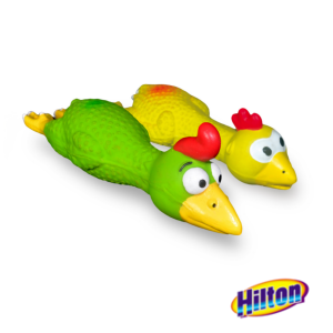 Hilton zabawka Kurczak w locie latex 16cm