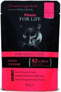 Fitmin Cat 85g For Life saszetka wołowina