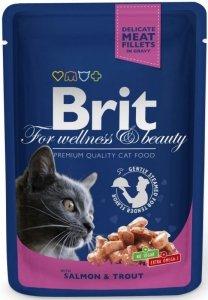 Brit Premium Cat 100g Łosoś Pstrąg sos saszet