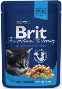 Brit Premium Cat 100g Kitten Kurczak saszetka