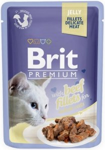 Brit Premium Cat 85g Wołowina galaretka sasz