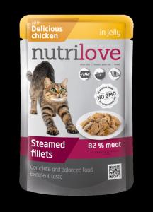 Nutrilove Cat z kurczakiem w sosie 85g