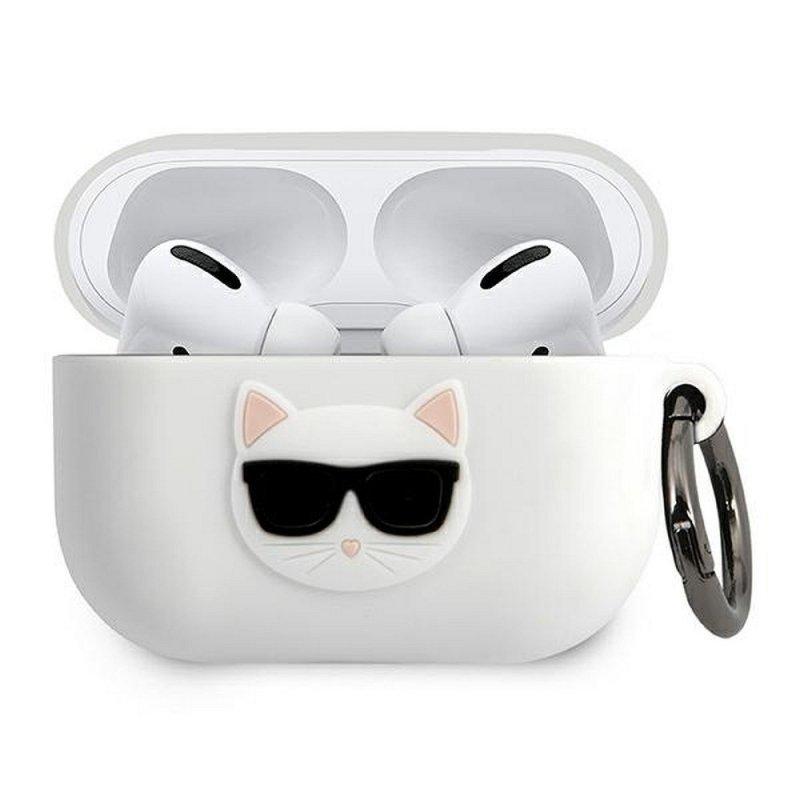 Oryginalne Etui KARL LAGERFELD KLACAPSILCHWH do Apple Airpods Pro biały
