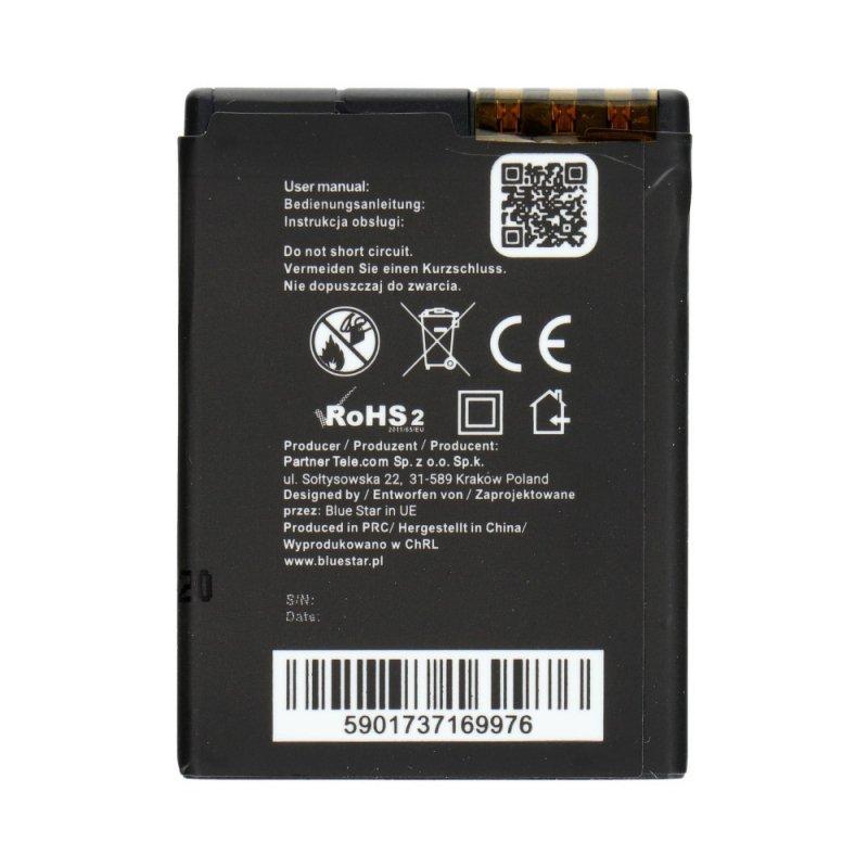 Bateria do Nokia 6111/7370/N76/2630/2760/N75/2600classic 1000 mAh Li-Ion Blue Star PREMIUM