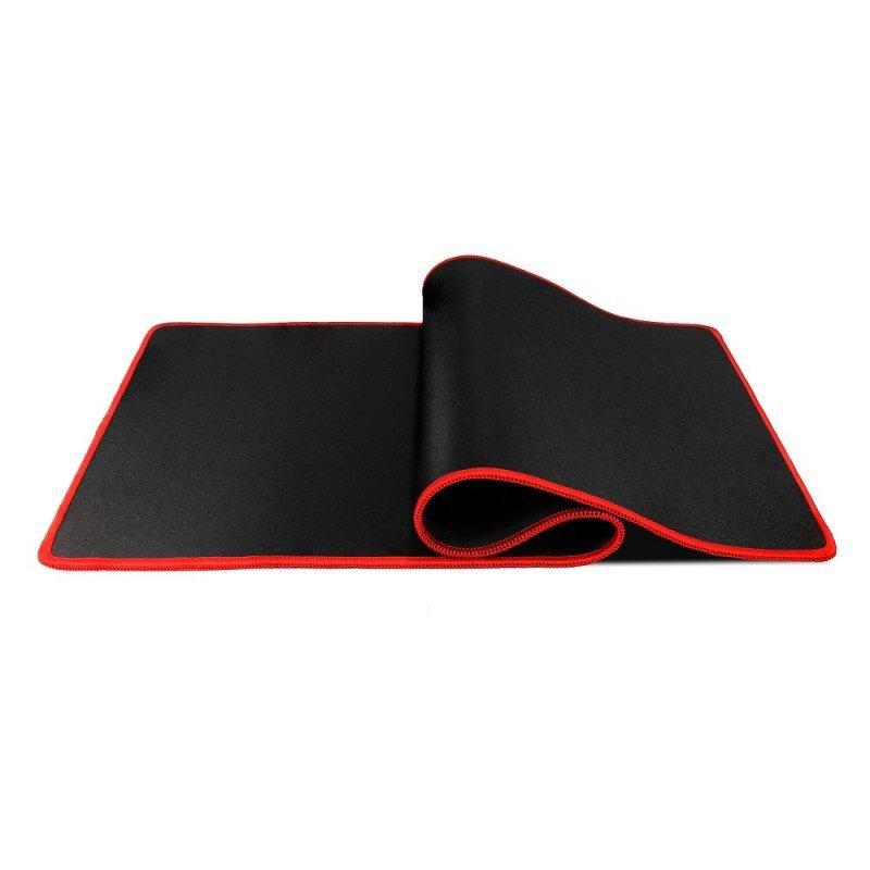 Podkładka pod klawiaturę i mysz dla graczy 700x300x3mm / czarny / obszycie czerwone