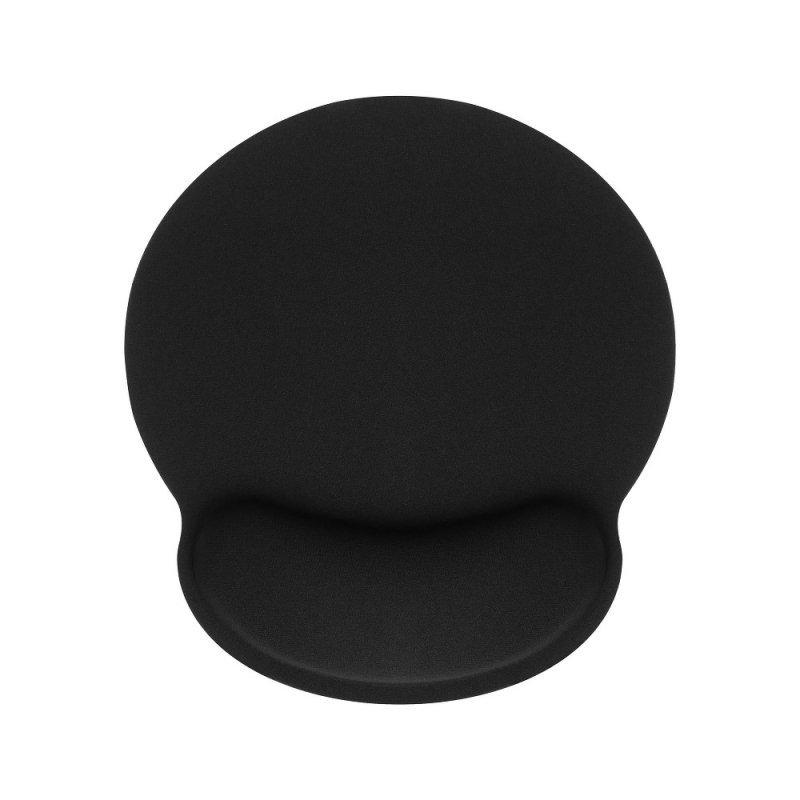 Podkładka ergonomiczna pod mysz i nadgarstek 250x230x25mm / czarny