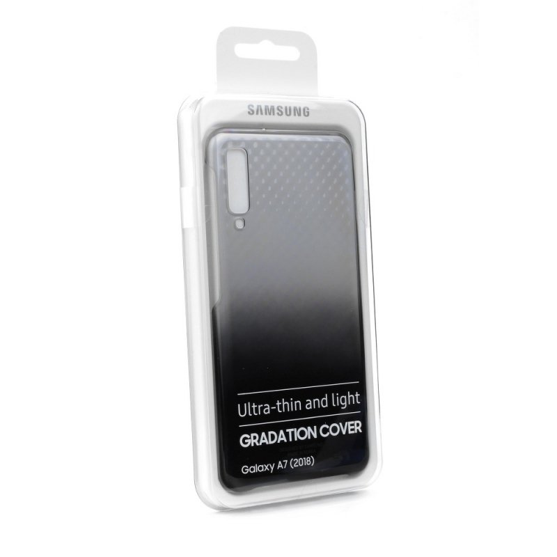 Oryginalny Futerał Gradation Cover EF-AA750CBEGWW Samsung Galaxy A7 2018 czarny blister