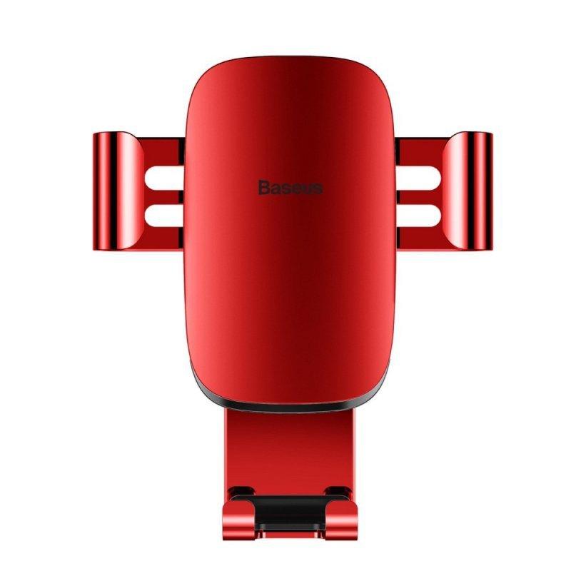 BASEUS uchwyt samochodowy do kratki Metal Age Gravity czerwony SUYL-D09.