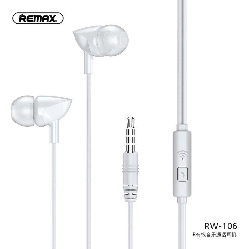 REMAX zestaw słuchawkowy / słuchawki RW-106 białe