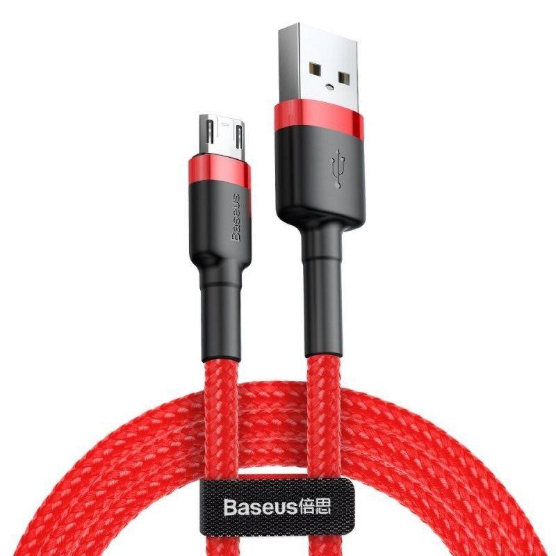 BASEUS kabel USB Cafule Micro 1,5A 2 metr czerwono-czerwony CAMKLF-C09