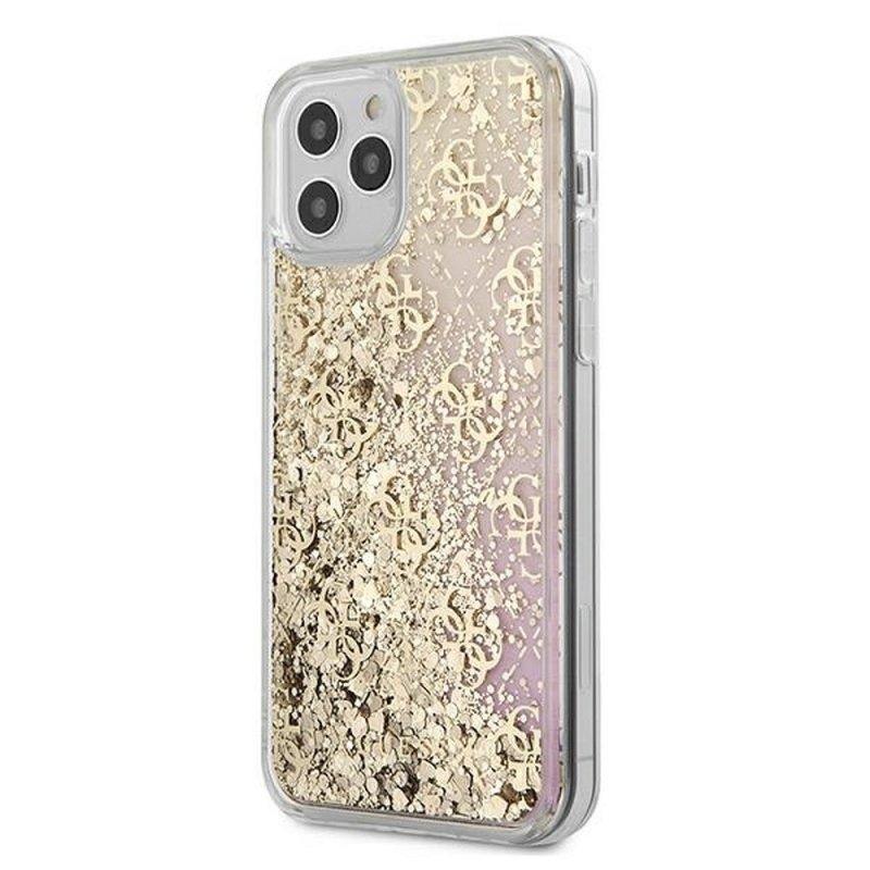Oryginalne Etui GUESS Hardcase GUHCP12LLG4GGPIGO do iPhone 12 PRO MAX złoty