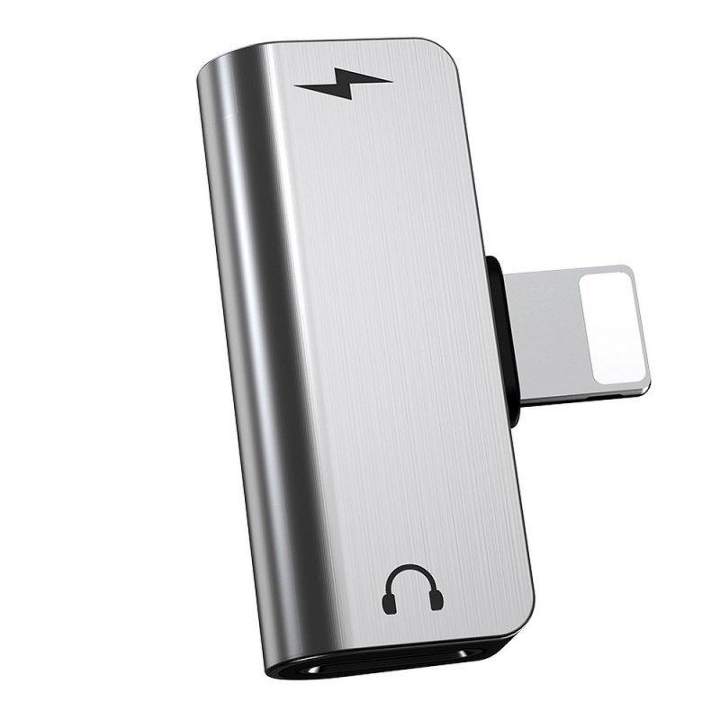 HOCO adapter audio 2w1 do Iphone Lightning 8-pin -  Iphone Lightning 8-pin+ Iphone Lightning 8-pin LS24 (działa mikrofon)