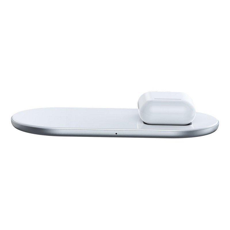 BASEUS ładowarka indukcyjna Simple 2w1 15W (18W*) Qi Cargador WXJK-02.