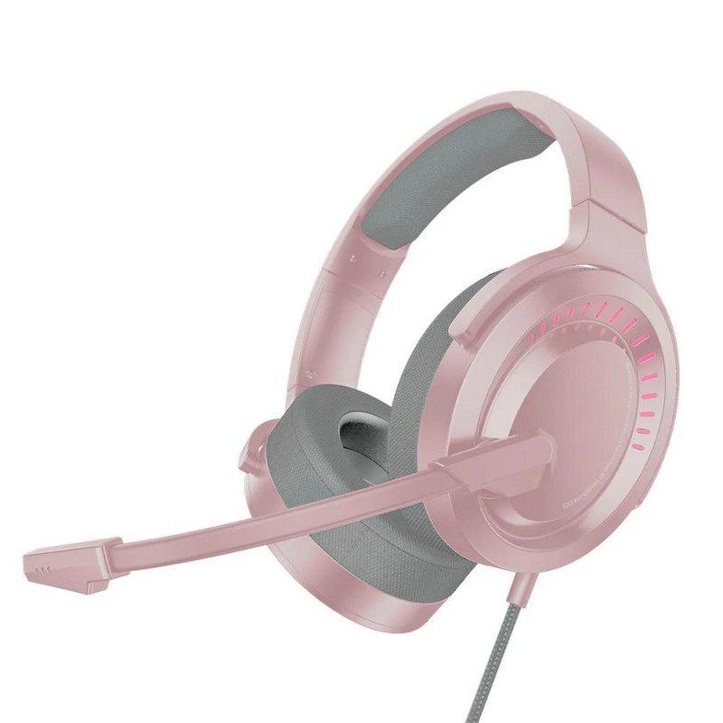 BASEUS zestaw słuchawkowy / słuchawki stereo GAMING GAMO Immersive Virtual 3D różowy NGD05-04