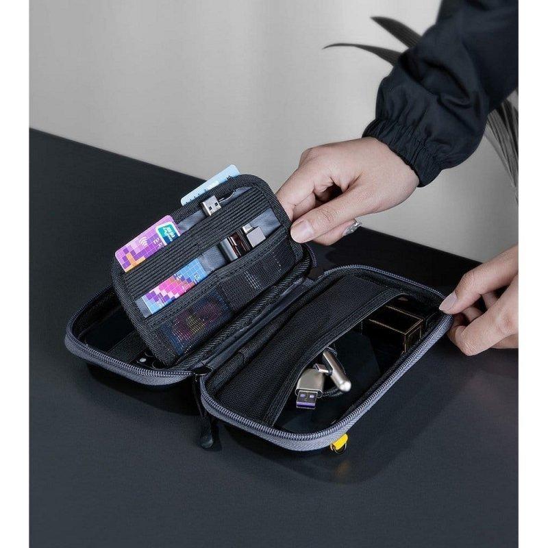 BASEUS pokrowiec / etui / torba wstrząsoodporna HERMIT na telefon / dysk / navi / akcesoria czarna LBFZ-A01