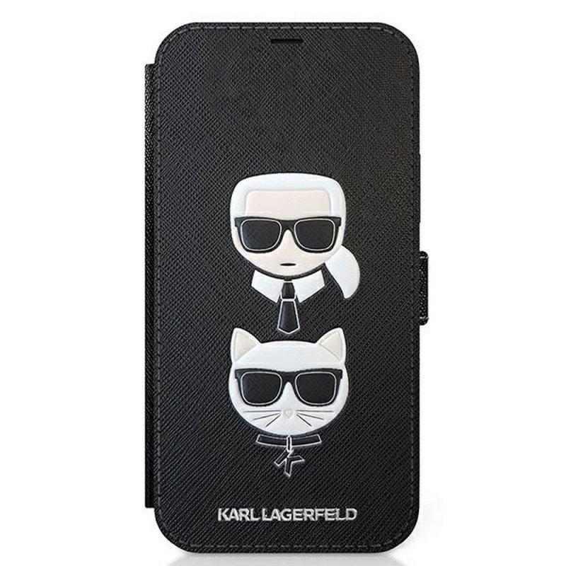 Oryginalne Etui KARL LAGERFELD Book KLFLBKP12SSAKICKCBK do iPhone 12 mini czarny